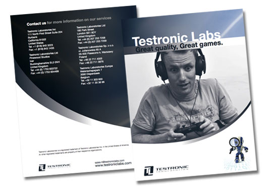 Testronic sample image - Mavo Studio London - Graphic design and web development London