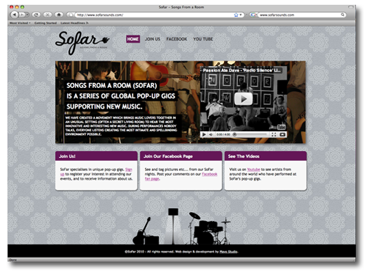 SoFar Home Page Design