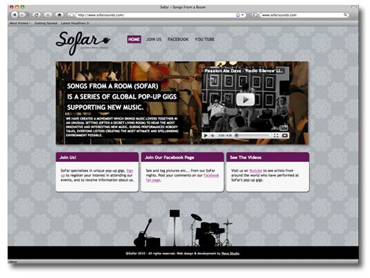 SoFar Home Page Design